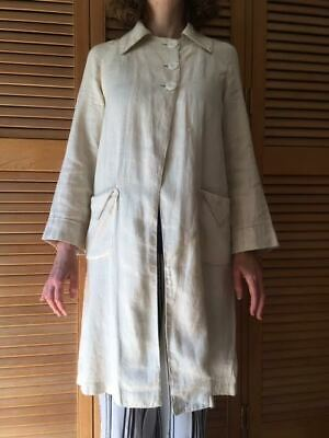SALE Authentic Vintage 1910 / 1920s Linen Duster Coat Size Small • 200£