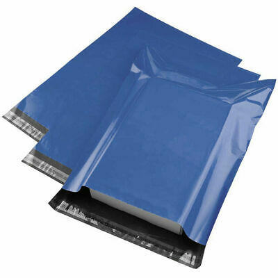 10/20/50/100/1000 Pack Of 6x9  Blue Plastic Sealable Mail Bags Delivery Sacks • 3.99£