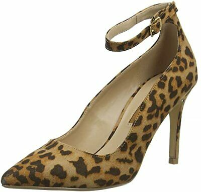 Dorothy Perkins Size 4 37 Leopard Print Ankle Strap High Heel Court Shoes Bnwb • 27.99£