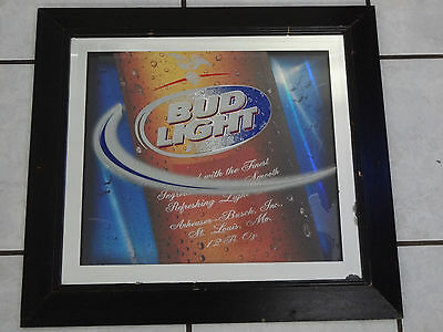 $ CDN34.04 • Buy Large Bud Light 3 Layer Mirror Sign 24  X 22  Budweiser Good Condition ~fast S/h