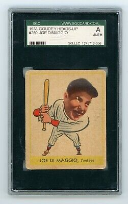 $975 • Buy 1938 Goudey Heads Up #250 Joe Dimaggio Graded SGC A Authentic