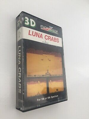 Luna Crabs (Micromega) 1983 ZX Spectrum Game Tested And Complete • 0.99£