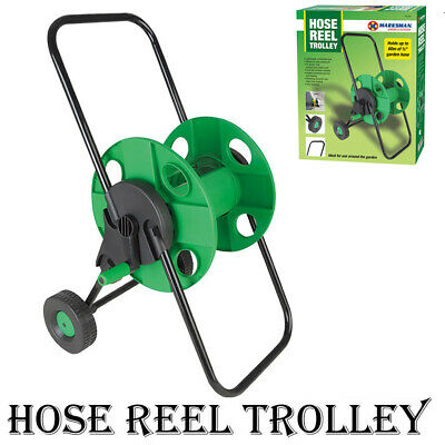 60m Portable Garden Hose Reel Trolley Water Pipe Free Standing Wall Mountable • 14.95£