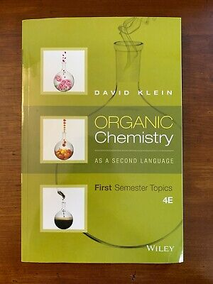 $25 • Buy Organic Chemistry As A Second Language: First Semester Topics By Klein