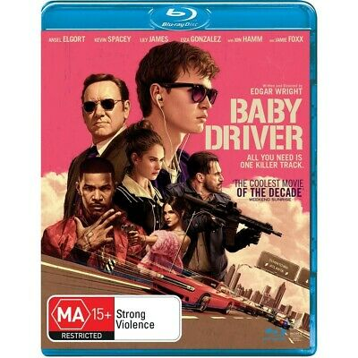 AU7.50 • Buy Baby Driver Blu-ray Ansel Elgort, Kevin Spacey,  Jon Hamm NEW UNSEALED