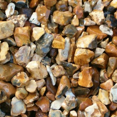 £12.99 • Buy Decorative Aggregate Chipping Golden Flint Gravel Gardens 20kg Fast Tracked P&P