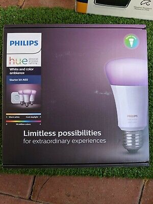 AU180 • Buy Philips Hue White & Colour Ambiance A60 Starter Kit, E27 Globe Fittings, Gen 3
