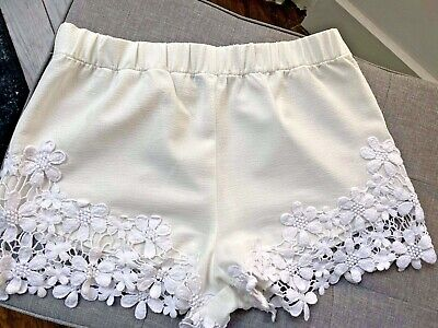 Zara Cream Lace Trim Shorts - Size XS • 25£