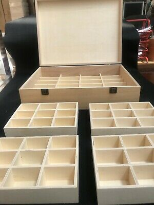 Wooden Box Extra Large With 60 Compartments • 32.99£