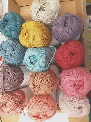 REDUCED - Rico Baby Cotton Soft DK Knitting Yarn - Various Colours - 50g Ball • 2.99£