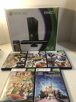 $ CDN197.31 • Buy Microsoft Xbox 360 S + Kinect Bundle 4GB Black Console With Lots Of Games