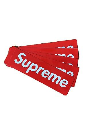 $ CDN6.80 • Buy 5 Supreme Red Box-Logo Stickers 100% Authentic Brand New 5 PACK LOT