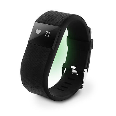 AU15.99 • Buy Fitness Smart Watch Activity Tracker Heart Rate Monitor Fitbit Style BLACK