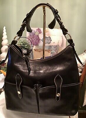 $150 • Buy Dooney Bourke Black Florentine Vachetta Leather LUCY Large Hobo Tote Sac Bag