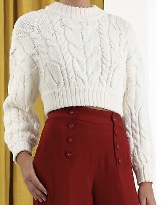 AU425 • Buy Zimmermann NWT Wavelength Cable Sweater Size 0 Tag $550 (current Season)