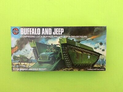 Airfix LTV 4 Buffalo Landing Craft & Willys Jeep - Oo Scale Second Series  • 15£