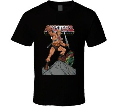 $19.99 • Buy He Man Masters Of The Universe Battle Cat Retro Vintage Cartoon T Shirt