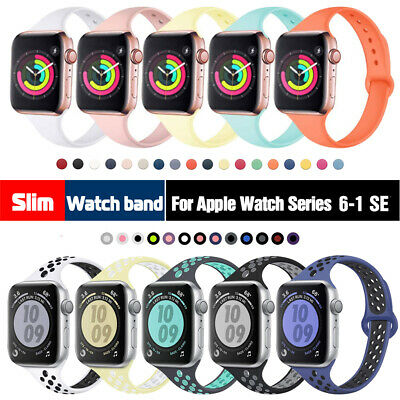 $ CDN5.42 • Buy 38/40mm 42/44mm Slim Silicone IWatch Band Women Strap For Apple Watch 5 4 3 2 1