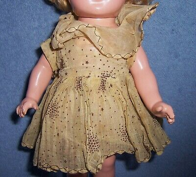 $10 • Buy Vintage Ideal Shirley Temple Composition ORIGINAL TAGGED DRESS + MIRROR~NO DOLL