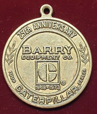 $19.99 • Buy Vintage 1973 Caterpillar Barry Equipment Co.  Key Fob Columbus Ohio 25th Anniver
