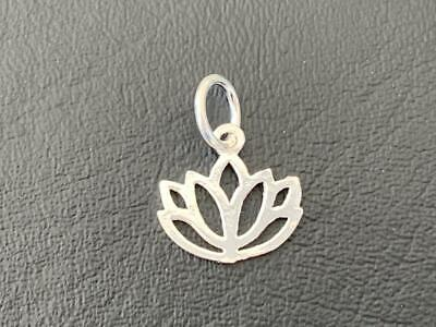 $ CDN9.39 • Buy Genuine 925 Sterling Silver Lotus Flower Small Pendant Charm Girls Women