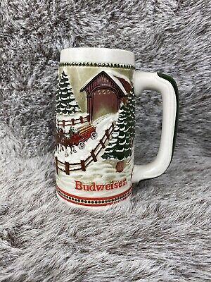 $ CDN32.67 • Buy Budweiser Champion Clydesdales CERAMIC STEIN  Ceramarte Brazil  Holiday - 1980