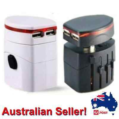 AU31.99 • Buy Universal World Travel Adapter Plug All In One Power Adapter & USB Charger