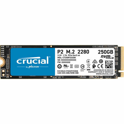 AU109 • Buy Crucial P2 250GB SSD M.2 228 PCIe NVME Internal Solid State Drive 2100MB/s NEW