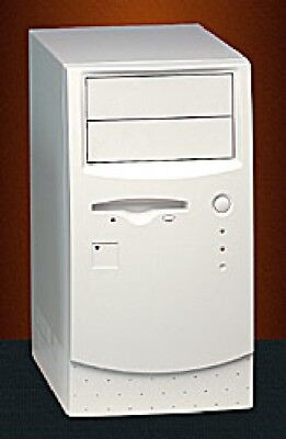 PC RETRO CASE ACM605X Micro ATX / Mini ITX Tower Computer Case In Beige • 18£