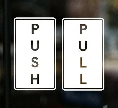 £3.50 • Buy PULL PUSH Door Stickers Shop Sign Window Glass Cafe Pub Chip News Agents Vinyl