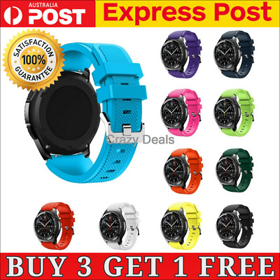 AU6.04 • Buy Sport Rubber Silicone Watch Band Strap For Samsung Gear S3 Frontier Classic 22mm