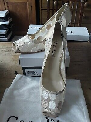 Italian Leather Gold Shoes 6.5 39.5 Rrp £105  Clarks Wedding Party Cruise  • 19.99£
