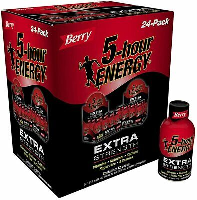 $ CDN72.44 • Buy 5 Hour Energy Shot, Extra Strength Berry, 24/Count