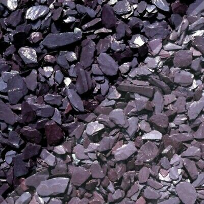 £12.99 • Buy 40mm Plum Slate Decorative Chippings Driveways Landscaping Aggregate Fast 20kg