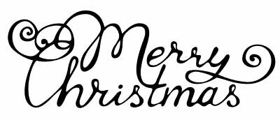 Christmas - Merry Christmas #4 Unmounted Clear Stamp Approx 60x25mm • 2.99£