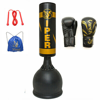 AU290.14 • Buy 5.5ft Free Standing Boxing Punch Bag Gloves Mma Training Heavy Duty Kick VIPER