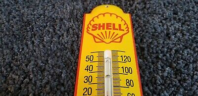 $ CDN473.06 • Buy Vintage Shell Gasoline Porcelain Gas Oil Thermometer Sign Pump Plate Ad
