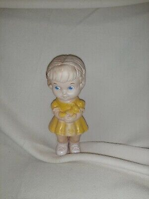 $6.99 • Buy 1962 Vintage Edward Mobley Toy Yellow Doll Arrow Rubber And Plastics Corp