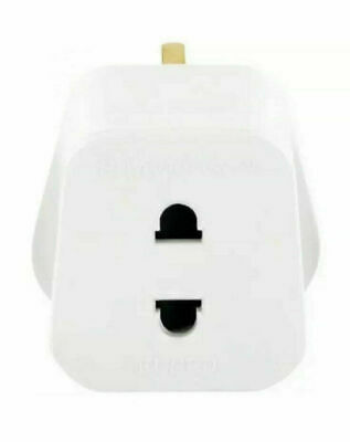 Eu 2 Pin To 3 Pin Electric Shaver Adapter Toothbrush Plug Adaptor Convertor • 2.99£