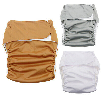 AU18.98 • Buy Reusable Adult Cloth Diaper Nappy Pants For Incontinence Bedwetting Reliable