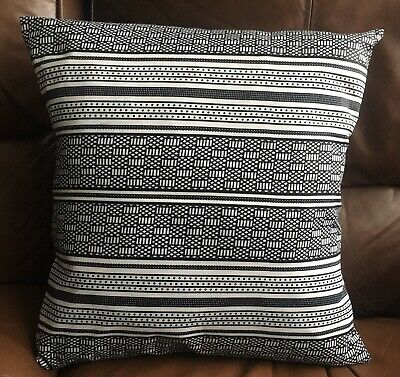 Black And White African Print Cushion Cover • 6.50£