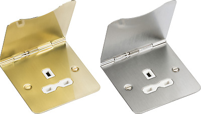 13A Floor Socket 1 Or 2 Gang Unswitched IP20 Knightsbridge • 16.99£