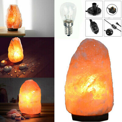 Natural Himalayan Rock Pink Salt Lamp With DIMMER Switch Cable Fitting + Bulb  • 13.99£