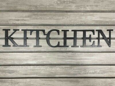 KITCHEN Metal Wall Art Word Quote Sign Decor, Steel RUSTIC HOME Farmhouse Modern • 19.10£