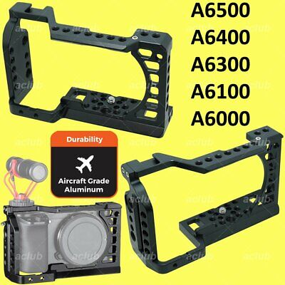 $ CDN73.69 • Buy Sony A6000 A6100 A6300 A6400 A6500 Aluminium Alloy Camera Rig Cage Stabilizer
