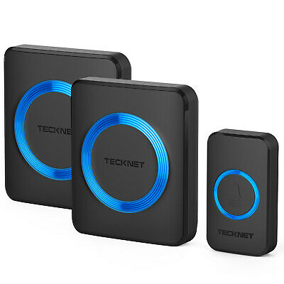 TeckNet Wireless Waterproof Door Bell UK Plug-in Cordless Door Chime Kit 820ft • 12.99£