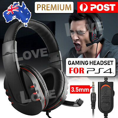 AU22.85 • Buy Gaming Headset Headphone W/ Microphone Volume Control For Sony PS4 PlayStation 4