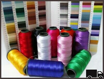 £2.97 • Buy 10 Colors Large Silk Rayon Cone Sewing All Machine Embroidery Strong Thread Reel