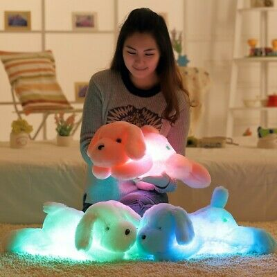 New Colorful Romantic LED Light Up Glow Pillow Soft Cosy Relax Cushion Love Dog • 9.99£