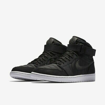 $89.99 • Buy Nike Jordan Retro 1 High Strap Black Mens Basketball Shoes 342132 004  Sz 9/9.5